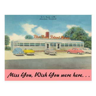 Maryland, The New Ideal Diner Postcard