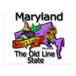 Maryland The Old State Line Bird Postcard