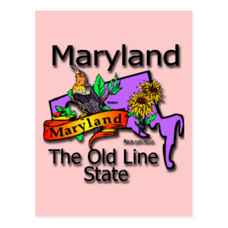Maryland The Old State Line Bird Post Card