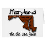 Maryland The Old State Line Shape Greeting Card