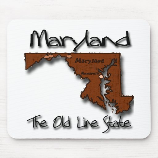 Maryland The Old State Line Shape Mousepad