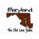 Maryland The Old State Line Shape Postcard