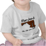 Maryland The Old State Line Shape T Shirts