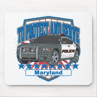 Maryland To Protect and Serve Police Squad Car Mouse Pad