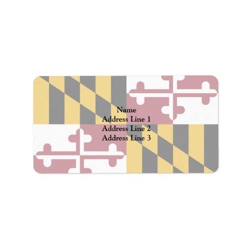 Maryland, United States Custom Address Labels