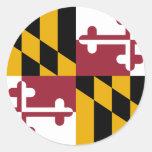Maryland, United States Round Stickers