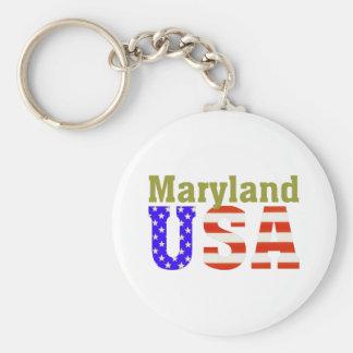 Maryland USA! Basic Round Button Keychain