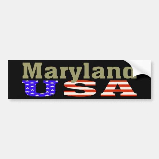 Maryland USA! Bumper Sticker Car Bumper Sticker