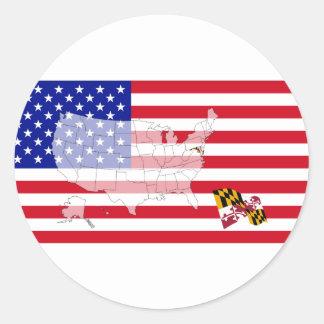 Maryland, USA Classic Round Sticker