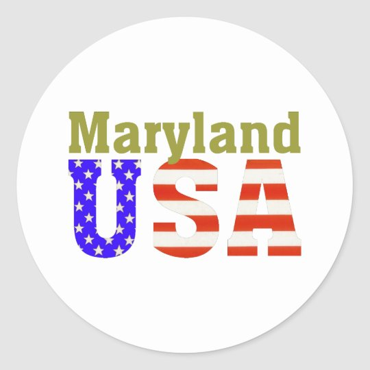 Maryland USA! Classic Round Sticker