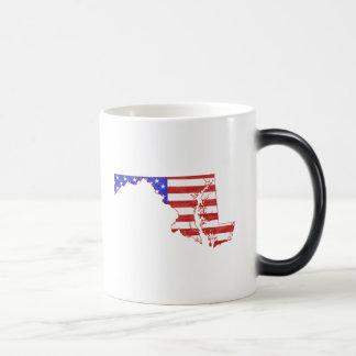 Maryland USA flag silhouette state map Magic Mug