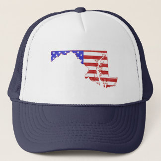 Maryland USA flag silhouette state map Trucker Hat
