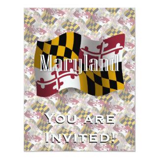 Maryland Waving Flag 4.25x5.5 Paper Invitation Card