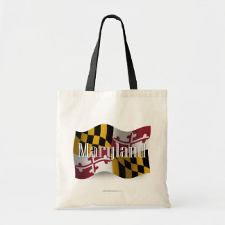 Maryland Waving Flag Canvas Bags