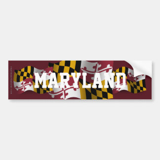 Maryland Waving Flag Bumper Sticker
