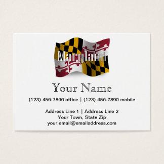 Maryland Waving Flag Business Card