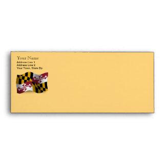 Maryland Waving Flag Envelopes
