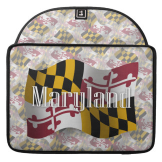 Maryland Waving Flag Sleeves For MacBook Pro