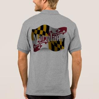 Maryland Waving Flag Polo T-shirt