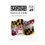 Maryland Waving Flag Postage Stamps