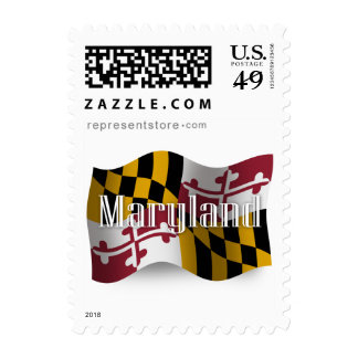 Maryland Waving Flag Postage Stamps
