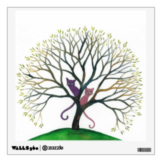 Maryland Whimsical Cats in Tree Wall Sticker