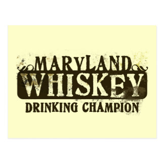 Maryland Whiskey Drinking Champion Postcard