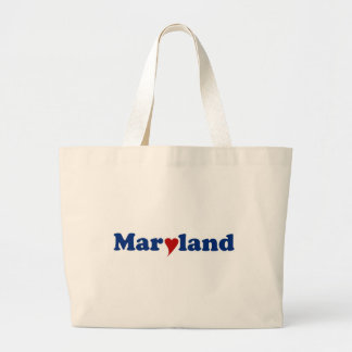 Maryland with Heart Tote Bag