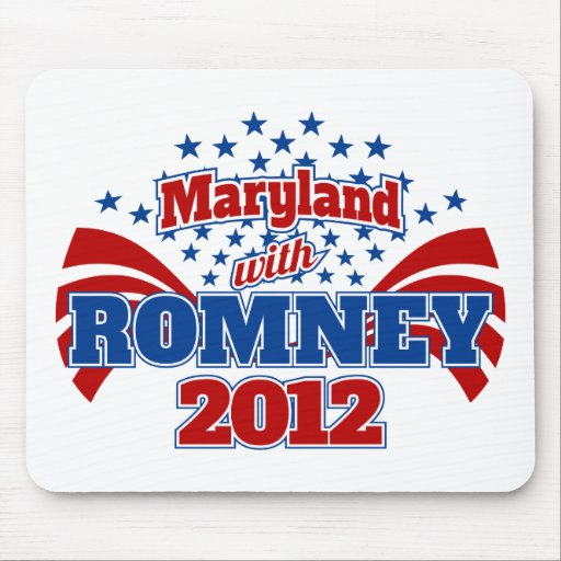 Maryland with Mitt Romney 2012 Mouse Pad