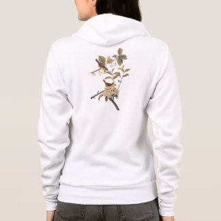 Maryland Yellowthroat Audubon Birds with Flowers Hoodie