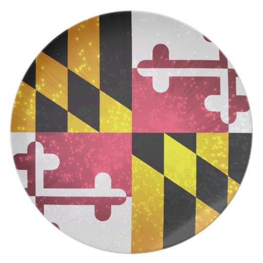 Marylander Flag Melamine Plate