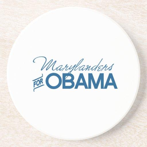Marylanders for Obama -.png Beverage Coasters