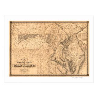 MarylandPanoramic MapMaryland Tarjeta Postal