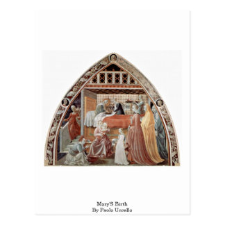 Mary'S Birth By Paolo Uccello Postcard