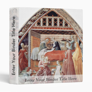 Mary'S Birth By Uccello Paolo (Best Quality) 3 Ring Binders