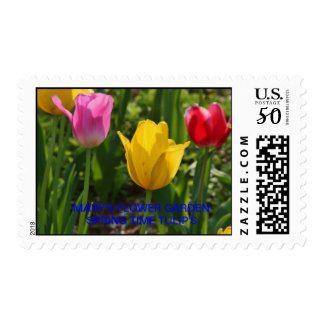 MARY'S FLOWER GARDEN SPRING TIME TULIP'S Postage