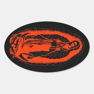 Mary's Glow Oval Sticker