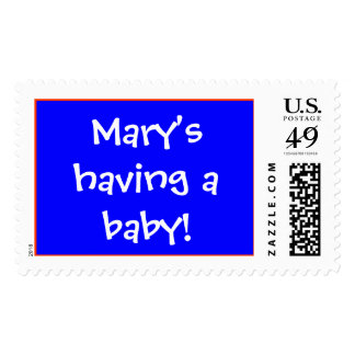 Mary's having a baby! postage stamps