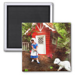 Marys Lamb 2 Inch Square Magnet