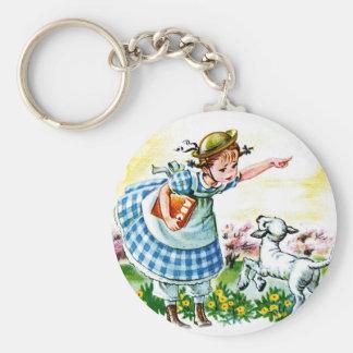 Mary's Lamb Key Chain
