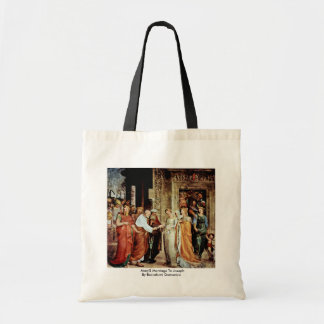 Mary'S Marriage To Joseph By Beccafumi Domenico Tote Bag