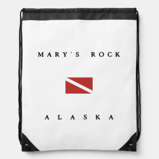 Marys Rock Alaska Scuba Dive Flag Drawstring Backpack