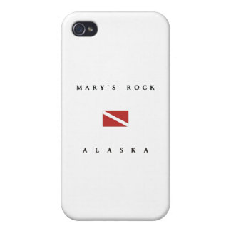 Marys Rock Alaska Scuba Dive Flag iPhone 4/4S Cover