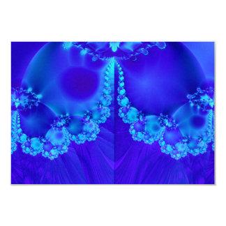 """Marys Veil Fractal 3.5"""" X 5"""" Invitation Card"""