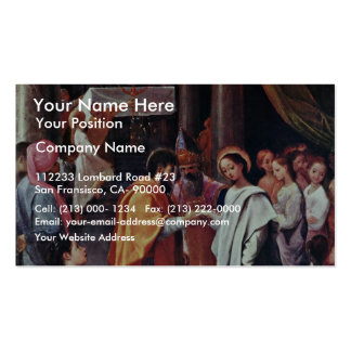 Mary'S Wedding By Ludovico Carracci (Best Quality) Business Card Template