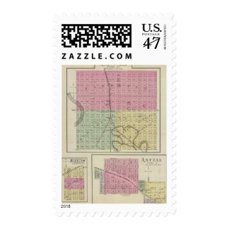 Marysville, Bigelow, and Axtell, Kansas Stamp