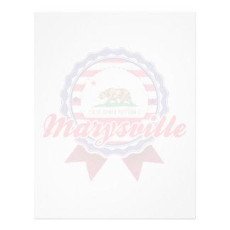 Marysville CA Membrete Personalizado