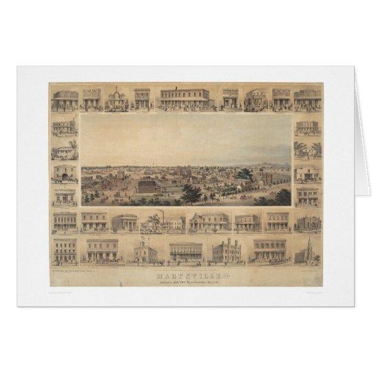 Marysville, California Panoramic Map (2505A) Card