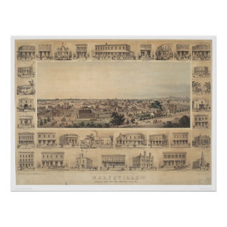 Marysville, California Panoramic Map (2505A) Poster