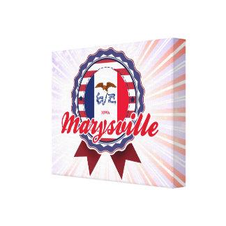 Marysville, IA Lienzo Envuelto Para Galerías
